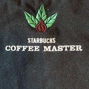Rare Official Starbucks Coffee Master Apron